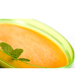 Iced Orange Juice and Lemon Cucumber Soup