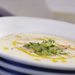 Roasted Sweet Garlic and Almond Soup
