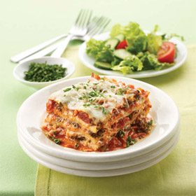 Five Cheese Veggie Lasagna