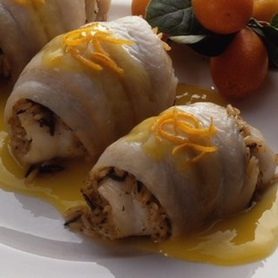 Stuffed Fish with Orange Sauce