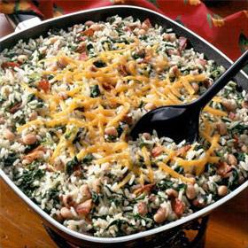 One-Dish Rice & Black-Eyed Peas
