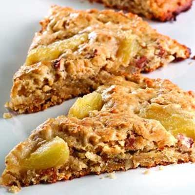 Apple Ginger Pecan Oatmeal Scones