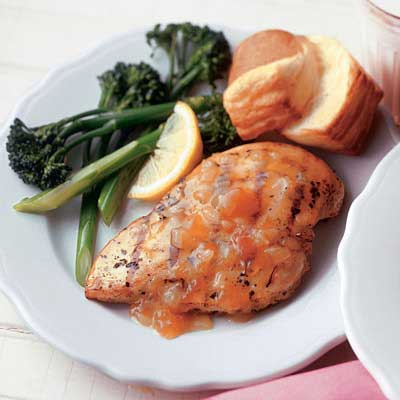 Apricot Honey Grilled Chicken