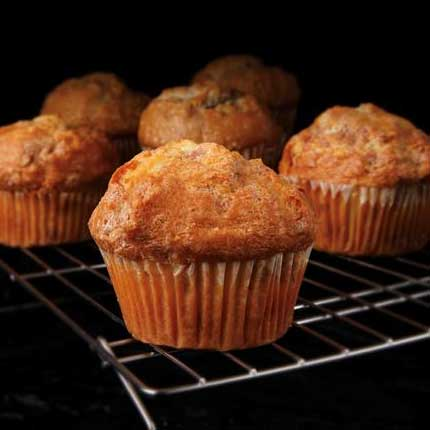 Banana Apple Streusel Muffins