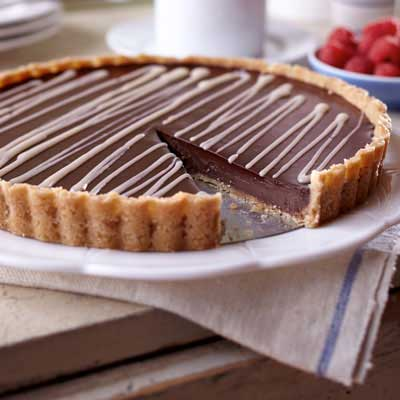 Black and White Chocolate Tart