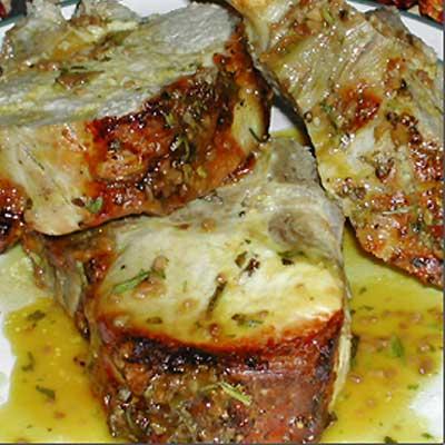 Cedar Plank Apple Pork