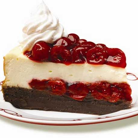 Cherry Chocolate-Brownie Cheesecake