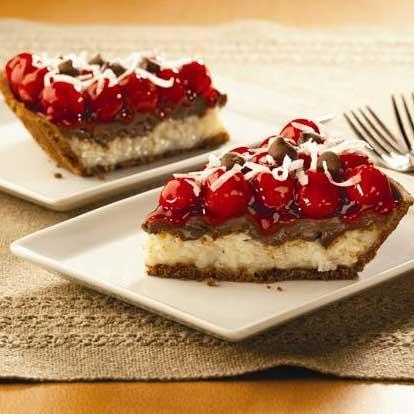Cherry Chocolate Macaroon Pie