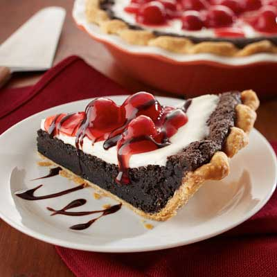 Cherry Sour Cream Fudge Pie