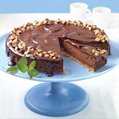 Chocolate Truffle Toffee Cheesecake
