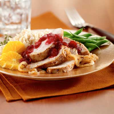 Cranberry Glazed Turkey Tenderloin