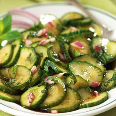 Cranberry Mint Marinated Cucumbers