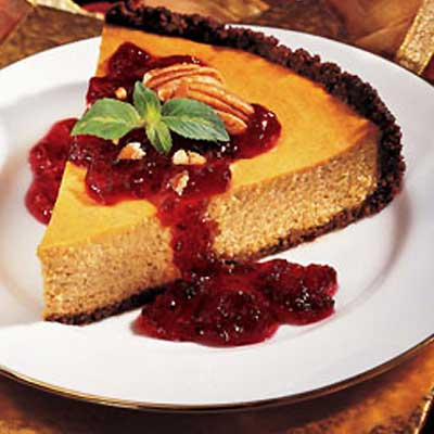Cranberry Pumpkin Cheesecake
