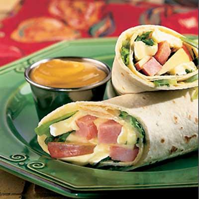 Crunchy Apple Wrap Sandwich
