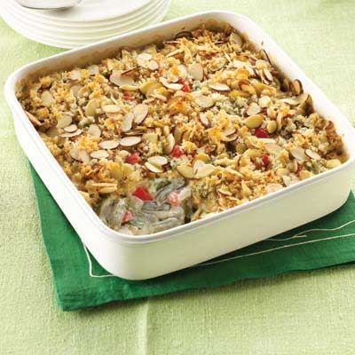 Crunchy Green Bean & Red Pepper Casserole