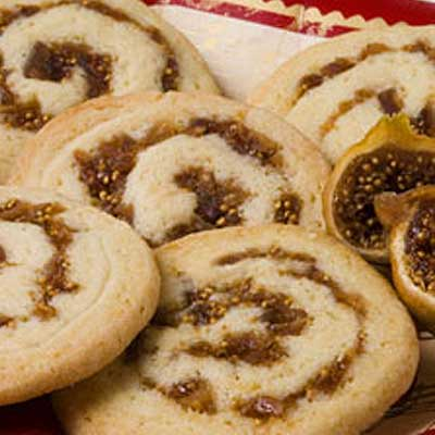 Fig-Cardamom Pinwheel Cookies