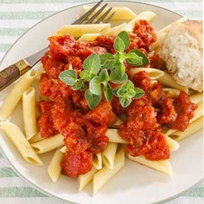 Fresh Marinara Sauce over Penne Pasta
