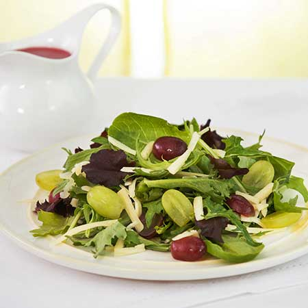 Grape and Cheddar Salad with Grape Yogurt Dressing