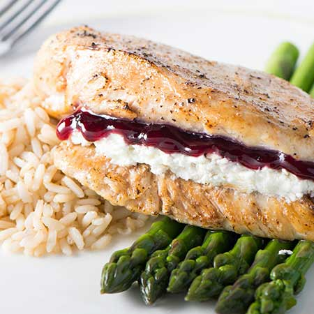 Grape and Goat Cheese Stuffed Chicken