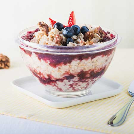 Grape and Walnut Breakfast Bowl
