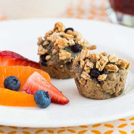 Grape Berry Crunch Muffins