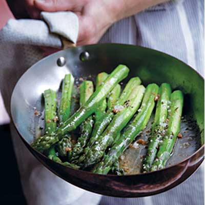 Green Asparagus with Brown Butter