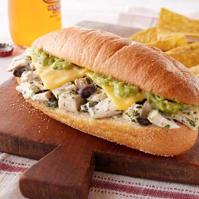Mexican Chicken Torta Sandwiches