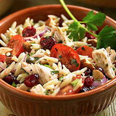 Orzo, Chicken and Fresh Basil Salad