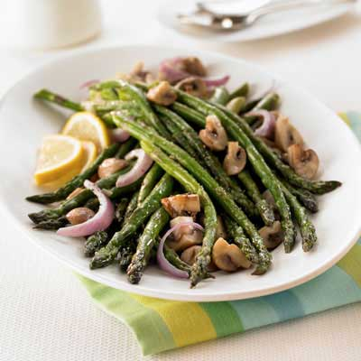 Oven-Roasted Asparagus & Mushrooms