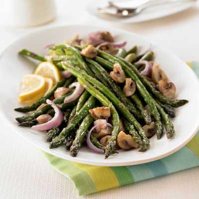 Oven-Roasted Asparagus & Mushrooms