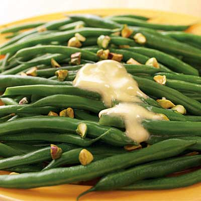Pistachio Sprinkled Green Beans