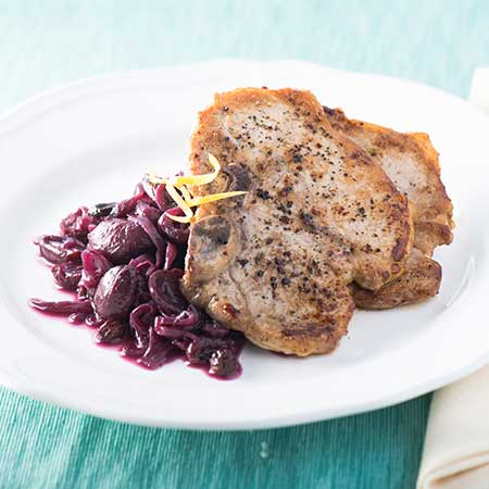 Pork Chops with Grape Confit