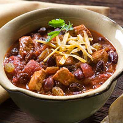 Quick Chicken Picadillo Chili