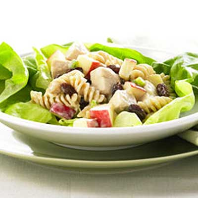 Raisin and Apple Chicken Pasta Salad