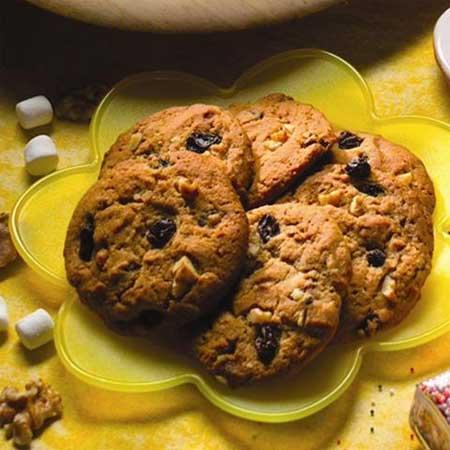 Raisin Nut Spice Cookies