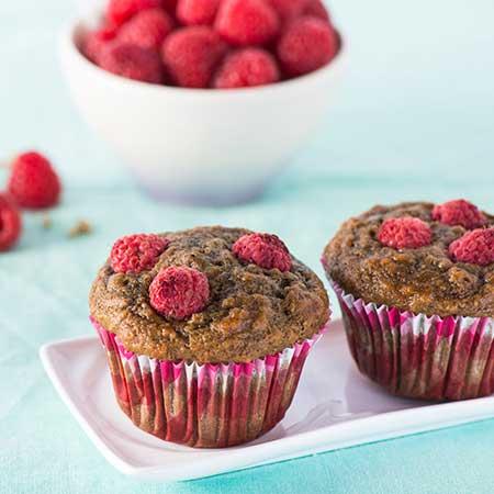 Raspberry Grape Mini Muffins