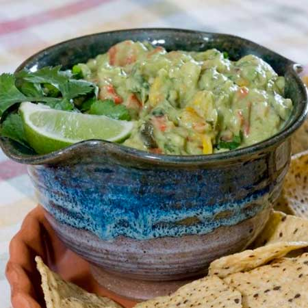 Roasted Pepper and Avocado Dip