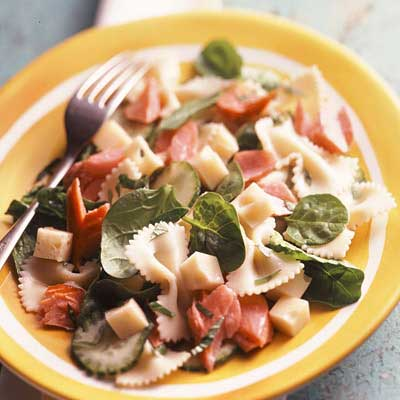 Salmon & Swiss Pasta Salad
