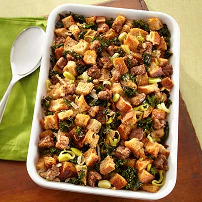 Sausage & Kale Sourdough Stuffing