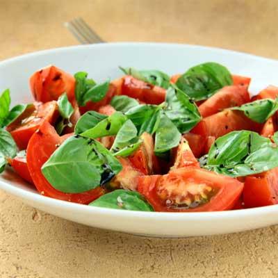 Tomato-Basil Salad with Balsamic Vinaigrette