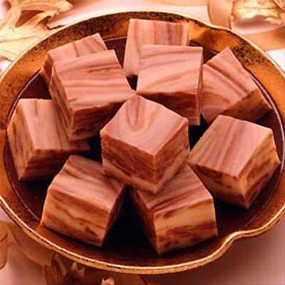 White Chocolate Swirled Fudge