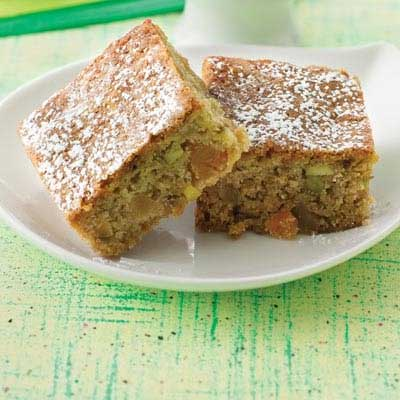 Pear Pistachio Ginger Bars