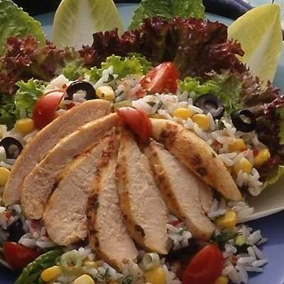 Spicy Rice and Chicken Salad