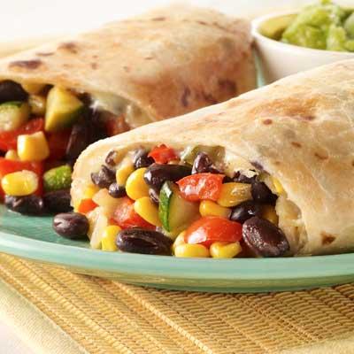 Garlic, Cumin & Black Bean Burritos