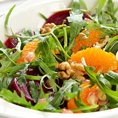Citrus Dressing and Arugula Salad