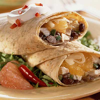 Black Bean Burritos with Citrus