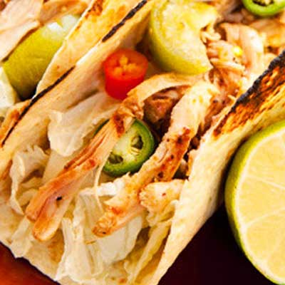 Chicken Tacos with Charred Salsa