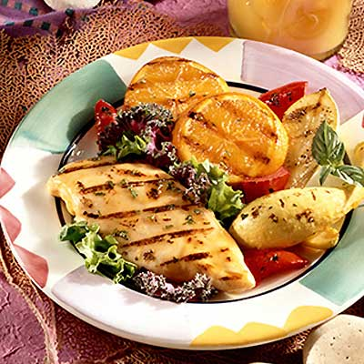 Grilled Chicken with Fruit