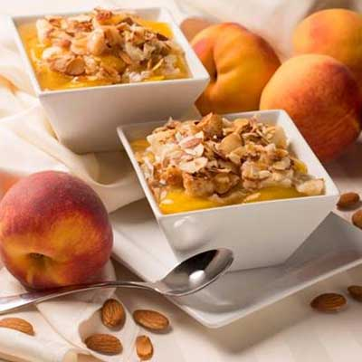 Amaretto Peach Cobbler