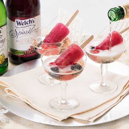 Sparkling Ice Pop Cocktails